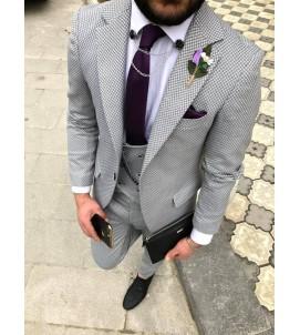 Молодёжный костюм тройка, super slim, артикул 1117