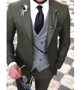Молодёжный костюм тройка, super slim, артикул 1116