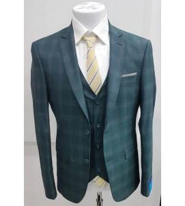 Мужской костюм тройка DL-001 приталенный. 43fb64d241c