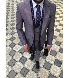 Молодёжный костюм тройка, super slim, артикул 2111