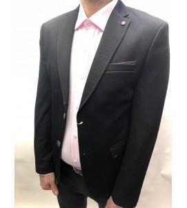 Пиджак приталенный, артикул 5001/чёрный.