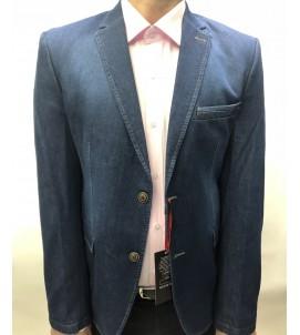 Пиджак приталенный джинса, артикул 6018/01