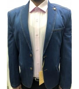 Пиджак приталенный джинса. артикул 5004/01