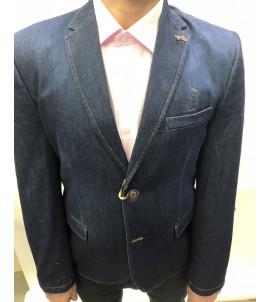 Пиджак приталенный джинса, артикул 6018/07